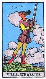 Bube Der Schwerter Tarot Karte Deutung Kartenlegen Bedeutung