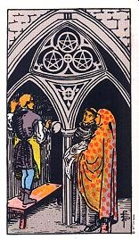 Drei Der Münzen Tarot Karte Deutung Kartenlegen Bedeutung