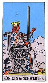 Königin Der Schwerter Tarot Karte Deutung Kartenlegen Bedeutung