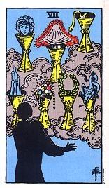 Sieben Der Kelche Tarot Karte Deutung Kartenlegen Bedeutung