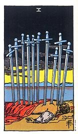 Zehn Der Schwerter Tarot Karte Deutung Kartenlegen Bedeutung